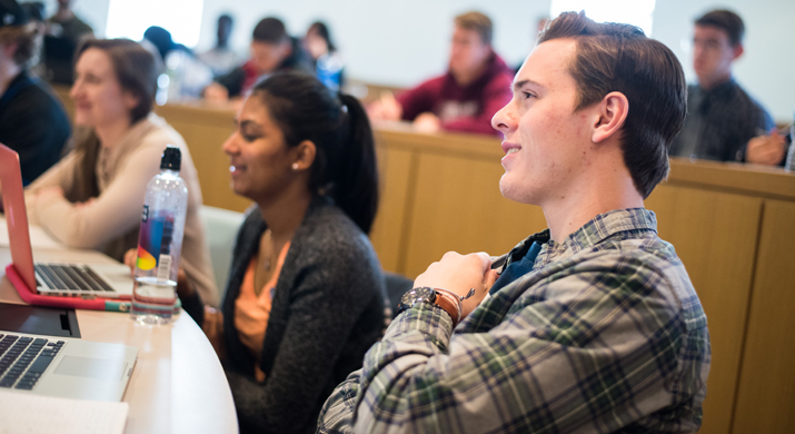 Photo of SUNY Plattsburgh students in lecture hall.