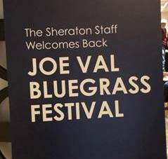 joe val bluegrass sign