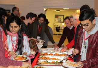 International Students Warmed by Welcome Dinner