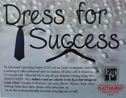 dress for success sign