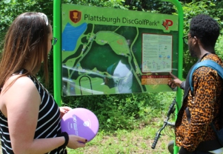 Frisbee Golf Course Open Behind SUNY Plattsburgh Field House