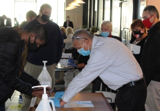SUNY Plattsburgh Hosts Clinton Community College Observers At Pooled Testing Session